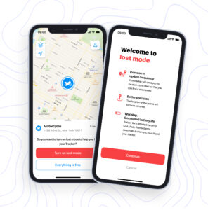Lost mode is perfect for recovering lost or stolen vehicles or valuables.